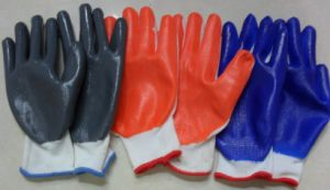 Rubber and PVC Coating Work Glove pictures & photos