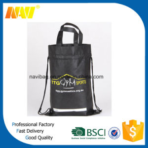 Non Woven Long Drawstring Bag with Handle pictures & photos