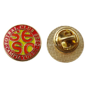 Gold Metal Lapel Pin Badge for Football Club Emblem (badge-096) pictures & photos