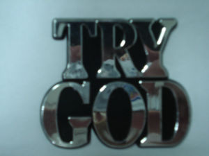 Customized 3D Chrome Jesus Emblems pictures & photos
