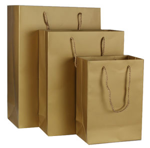 High Quality 200GSM Brown Kraft Paper Bag (YY-0205) pictures & photos