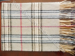 100% Cashmere Warm Check Scarf (HM-SC09007) pictures & photos