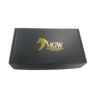 Custom Printing Black Embossed Cardboard Box pictures & photos