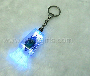 Real Green Beetle with Flashlight Key Ring