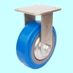 Heavy Duty PU Caster Wheel with Side Brake (Blue) pictures & photos