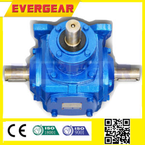 T Series Cylindrical 90 Degree Spiral Bevel Gearbox Gear Reducer pictures & photos