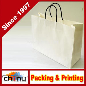 Small Brown Paper Shopping Bags with Handle (2160) pictures & photos