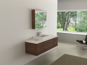 Bathroom Vanity, Wooden Cabinets with Mirror (300-160)