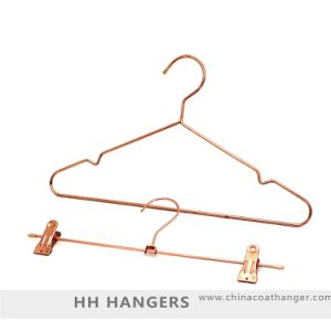 Rose Copper Gold Wire Metal Coat Hanger for Suit pictures & photos