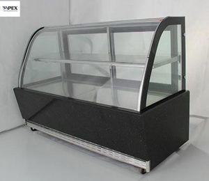 Curved Glass Door Cake Cooler Cake Cabinet Showcase for Snack Display pictures & photos