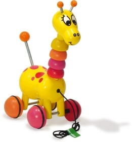Wooden Giraffe Pull Toy (WD3425)