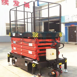 16m Hydraulic Electric Self Propelled Scissor Lift Table Cargo Lift pictures & photos