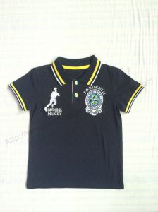 Boy Polo Shirt in Children Clothing with Short Sleeve Sq-6265 pictures & photos