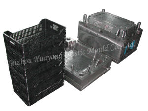 Plastic Stackable Crate Mould (HY051) pictures & photos