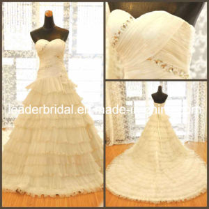 Sweetheart Wedding Gown Tiered Bridal Wedding Dress N130107A pictures & photos