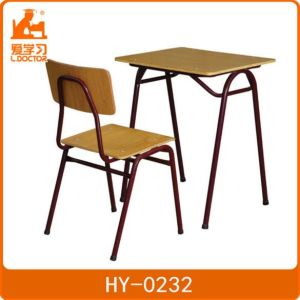 Student Metal Desk and Chair of Plywood for Education pictures & photos