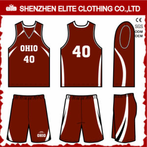 Custom Wholesale Good Price Basketball Jersey Uniform (ELTBNI-12) pictures & photos