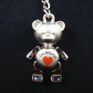 Promotional Moveable Leg Bear Pendant Metal Keychain Souvenir Keyrings pictures & photos