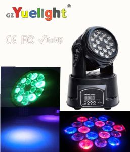 Cheap and Hot Sale 18PCS*3W 3in1 LED Mini Moving Head Stage Light pictures & photos