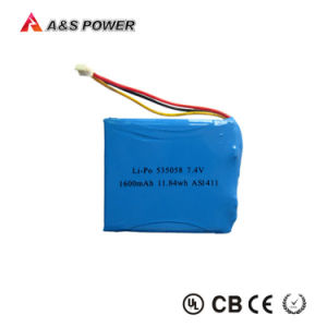 7.4V 1600mAh Lithium Polymer Rechargeable Battery pictures & photos