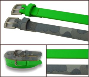 Green Camo Print PU Fashion Belt pictures & photos
