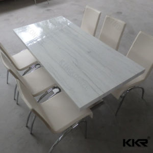 Cheap Solid Surface Round Marble Top Dining Table pictures & photos