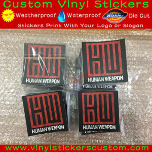 Custom Logo Vinyl Material Matt Finish Stickers pictures & photos