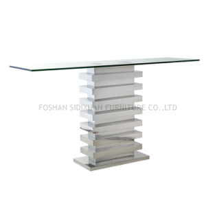 Sj930 Living Room and Dining Room Furniture Serie Stainless Steel Frame with Tempered Glass pictures & photos