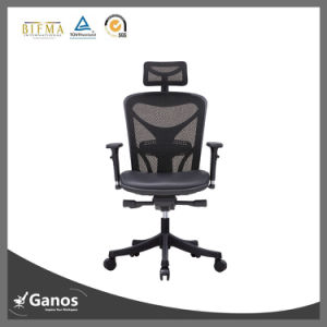 Black Mesh Swivel Office Chair with Adjustable Armrest pictures & photos