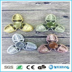 Crusader EDC Hand Tri Fidget Spinner Zinc Alloy Finger Focus Toy Autism Gift pictures & photos