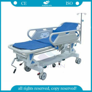 AG-HS002 2 Functions Manual Stretcher Trolley pictures & photos