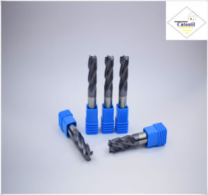 Cutoutil HRC45 Tialn Coating D12*30*75  2f/4f for Steel CNC Machining Part   Square  Carbide End Mills Tools pictures & photos