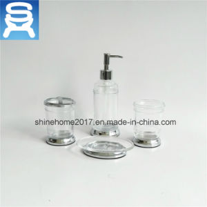 Hotel Bath White Porcelain and Chrome Metal Finished Bathroom Accessory pictures & photos