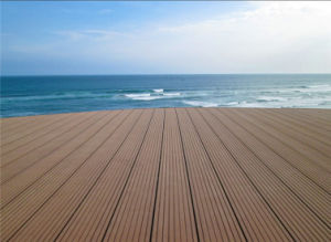 140X25 High Quality Engineered Wood Plastic Composite Decking pictures & photos