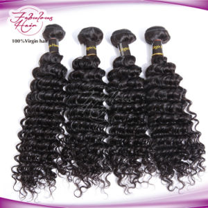 8A Grade Deep Wave Virgin Indian Temple Hair pictures & photos