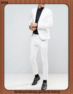 Slim Fit Men White Prom Dress Tuxedo Suit