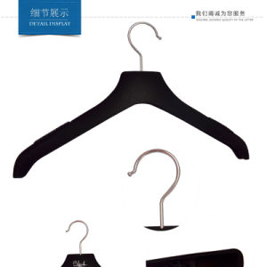 Black Custom Velvet Hangers with Logo Printed pictures & photos