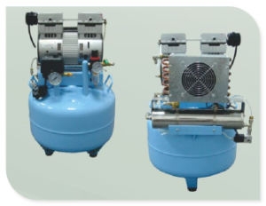 Oilless Silent Dental Air Compressor for Two Dental Unit Use pictures & photos