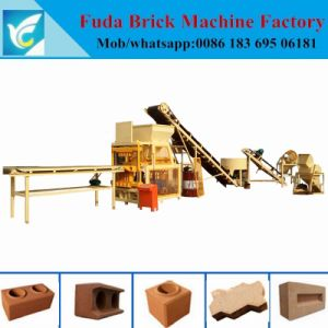 Qt4-10 Full Automatic Hydraulic Soil Clay Block Machine pictures & photos