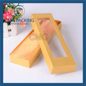 Yellow Gift Box with Clear Plastic Window pictures & photos