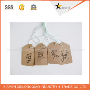 Full Color Free Design Rectangle Printing Hang Tag with String pictures & photos