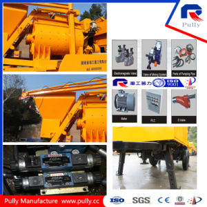 Portable Hydraulic Trailer Concrete Pump with Twin-Shaft Mixer for Sale pictures & photos
