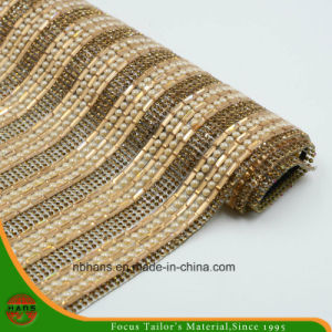 New Design Heat Transfer Adhesive Crystal Resin Rhinestone Mesh (YH-004) pictures & photos