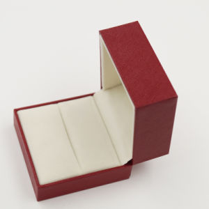 Shenzhen Manufacturer Plastic Velvet Ring Storage Jewellery Jewelry Box (J37-A2) pictures & photos