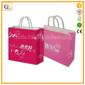 Promotion Gift Paper Bag in Recycled Kraft Paper with Color Printing pictures & photos