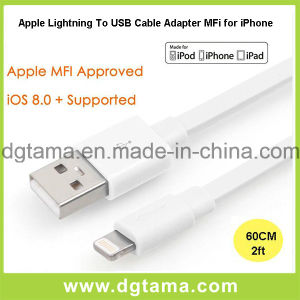 Lightning to USB Cable Adapter Mfi for Apple for iPhone pictures & photos