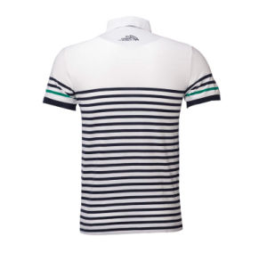 Hot Seller Latest Design Knitted Men Striped Polo Shirt pictures & photos