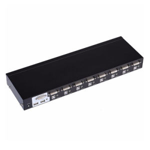 8 Port Auto DVI Kvm Switch with Audio USB Mouse Keyboard Auto Hotkey Switch 8 PC 1 Monitor pictures & photos