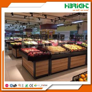 Wooden Supermarket Hypermarket Fruits and Vegetables Display Racks pictures & photos