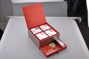 Mooncake Packaging Gift Box with Drawer/Mooncake Box pictures & photos